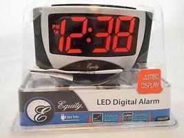 NEW Large LED Digital Alarm ClockEquity by La Crosse 30029 B1.130 - $7.99
