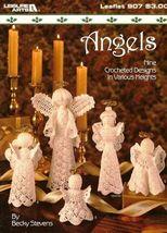 X670 Crochet PATTERN ONLY 9 Crochet Angels Ornament Pattern Leisure Arts - $14.50