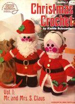 X671 Crochet PATTERN ONLY Christmas Crochet Vol 1 Mr. & Mrs. Santa Claus Dolls - $11.50