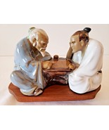 VTG Wanjiang Chinese Wise Man Master Student Game Mudmen Statue w/wood s... - $22.76