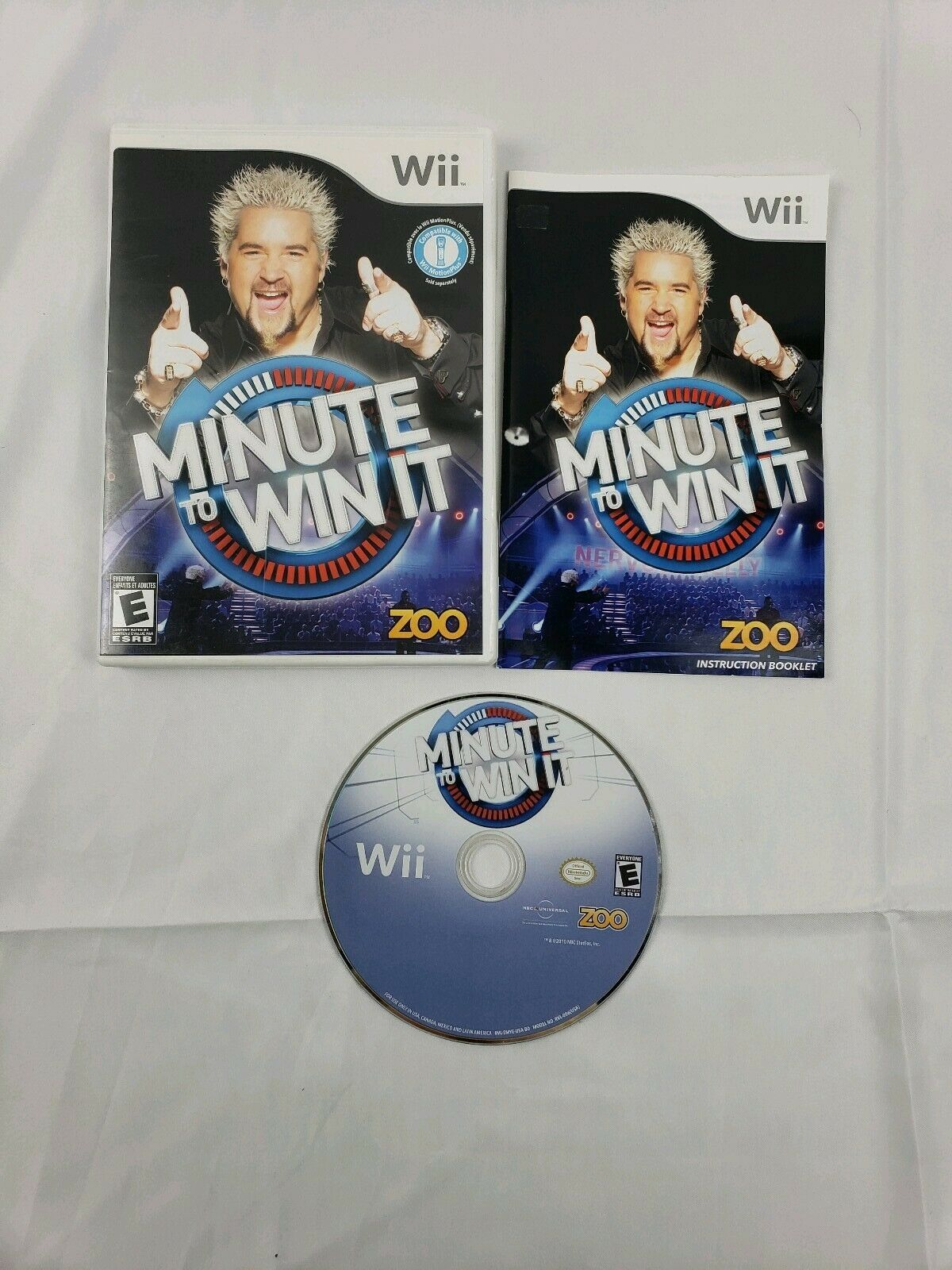 Primary image for Minute to Win It (Nintendo Wii, 2010) 100% Complete w/ Manual Tested Working