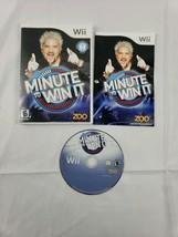 Minute to Win It (Nintendo Wii, 2010) 100% Complete w/ Manual Tested Wor... - $4.40