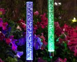 Ts outdoor solar powered tube lights solar acrylic bubble rgb color changing stake thumb155 crop