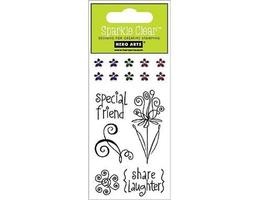 Hero Arts Sparkles Special Friends Clear Stamp Set with Rhinestones #CL166 - $3.99