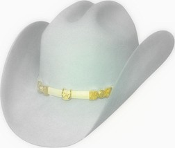 Bullhide 6X Montecarlo Collection Wool Felt Cowboy Hat EL INQUIETO SILVE... - $65.00