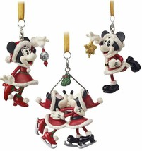 NWT Disney Parks Santa Mickey Minnie Mouse Ornament Set Of 3 Turn of the... - $34.64