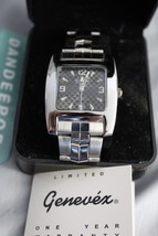 Genevex Men's silver Color Watch in Box 3ATM 100Ft Water Resistant Stainless - $39.59