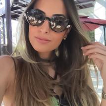 Designer Cat Eye Rhinestone Half Frame Sunglasses Gradient Lens Women Fa... - $12.95
