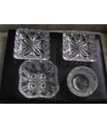 Vintage Cut Glass (4) Pieces - Perfect condition (No cracks, chips or fl... - $48.65