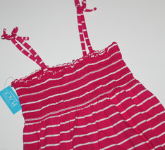 Children's Place New Girls 10 Pink Striped Cami Strap Sun Dress Swimsuit Coverup - $20.47