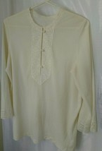 Lounge or Pajama Top Vintage Late Middle to Late 40's Good Cond. Van Raalte - $32.98