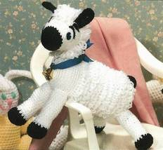 X804 Crochet PATTERN ONLY Mary's Little Lamb Pattern Toy Animal - $7.50