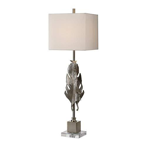 Uttermost Luma Metallic Silver Champagne Buffet Table Lamp image 2