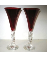 Crystal Cristal D'Arques Noel Ruby Goblets (2) - $19.50
