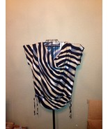 Black and Tan Stripes or lines blouse ~ Large or XL - $23.26