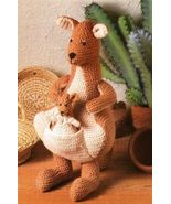 X831 Crochet PATTERN ONLY Mama Kangaroo and Bab... - $8.45