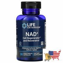 Life Extension NAD+ Cell Regenerator and Resveratrol 30 Vegetarian Capsules - $74.22