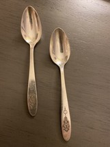 Oneida Community BIRD OF PARADISE 1923 Set of 2 DEMITASSE SPOONS 4.5 Inches - $14.03
