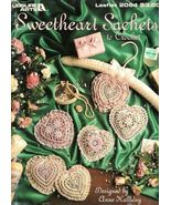 X848 Crochet PATTERN ONLY Sweetheart Sachets 6 ... - $17.45