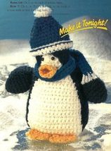 X850 Crochet PATTERN ONLY Breezy Penguin Doll Toy Pattern - $7.50