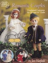 Romantic Couples, Crochet Male & Female Doll Clothing Pattern Booklet AS... - $3.95