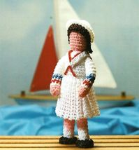 X853 Crochet PATTERN ONLY Tiny Betsy Doll Toy Decoration - $8.50
