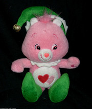 "12"" CARE BEAR LOVE A LOT CHRISTMAS ELF PINK STUFFED ANIMAL PLUSH TOY 200... - $23.38"