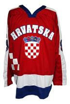 Custom croatia hrvatska retro hockey jersey red   1 thumb200