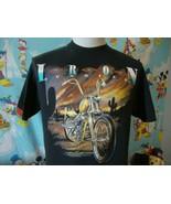 Vintage 90's Iron Sunrise White Horse Motorcycle Biker T Shirt L  - $32.67