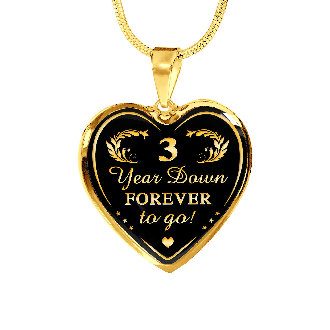 Wedding 3 Years Anniversary - Husband and Wife Gift, Valentine's Luxury Necklace