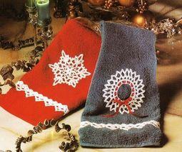 X905 Crochet PATTERN ONLY Snowflake, Wreath & Angel Ornament + Edging - $7.50