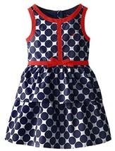 Nautica Little Girls' Tiered Dot Dress , Navy, Size 5 - $29.69