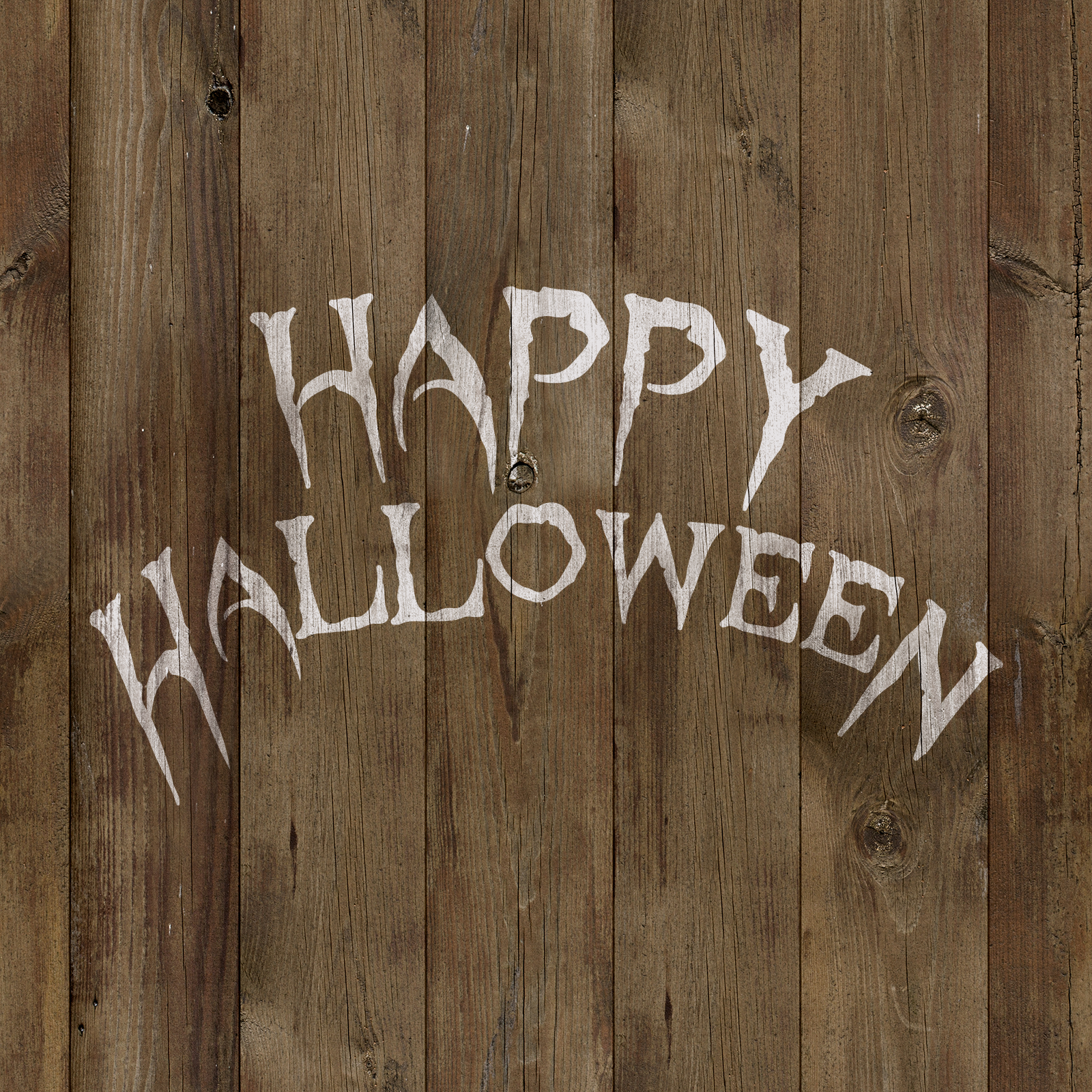 Happy Halloween Wicked Stencil - Reusable Stencils for Halloween