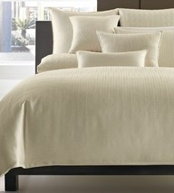 HOTEL COLLECTION - Beads Ivory Quilted Standard Sham Circles New - $28.50