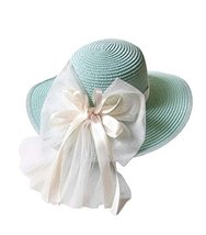 Folding Beach Hat UV Girls Summer Sunscreen Large Brimmed Hat Child Children