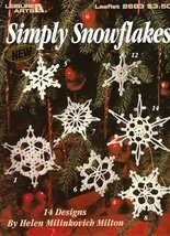 X952 Crochet PATTERN ONLY Simply Snowflakes Christmas Ornament - $13.50