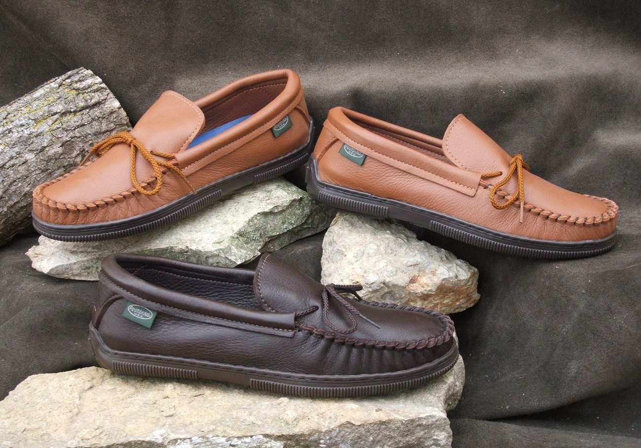 Mens Footwear Deertan Leather Shoes Rubber Soles Sizes  6-13 Made in USA Bonanza