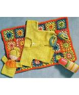 X969 Crochet PATTERN ONLY Baby on the Go Blanke... - $7.45