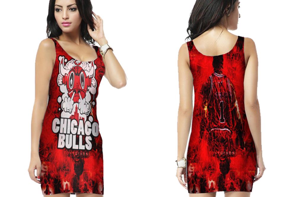 Chicago basketball bodycon dress