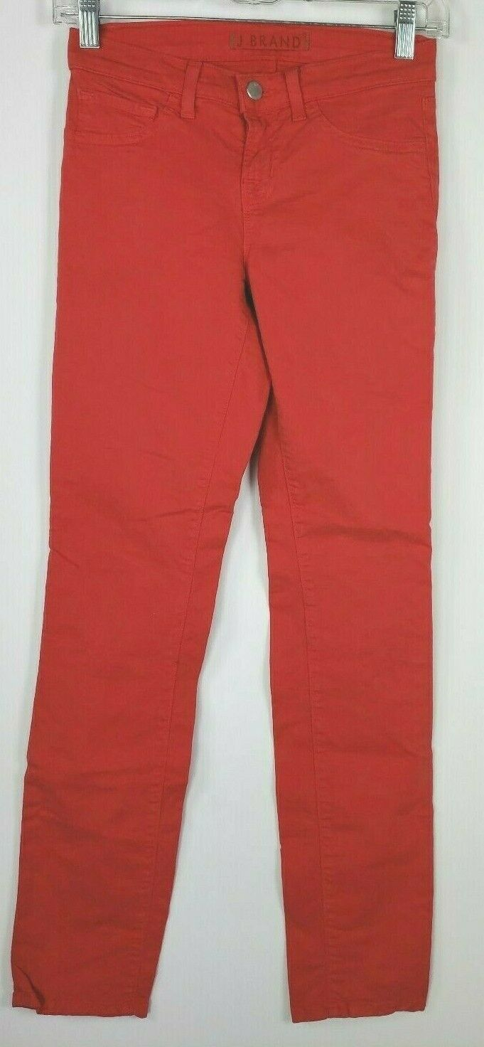 "J Brand ""Skinny Leg"" Red Jeans 24 Cotton Stretch Style #811K120"