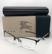 Burberry Rx-able Semi-rimless Eyeglasses B 1278 1001 53-17 Black & Plaid Frames