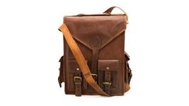 Prastara  Leather Vintage Roll on Backpack Rucksack /College Backpack/2 ... - $55.53 CAD
