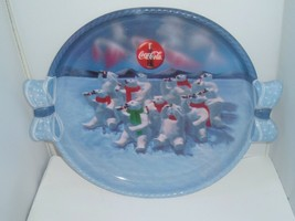 Polar Bear Christmas Holiday 1997 Coke Coca-Cola Winter Plastic Serving ... - $15.81