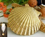 Vintage scallop seashell necklace shell cork wood beads cord thumb155 crop