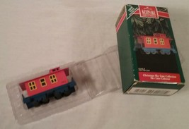1992 HALLMARK KEEPSAKE ORNAMENT CHRISTMAS SKY LINE COLLECTION TRAIN CABOOSE - $24.05
