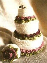 Y030 Crochet PATTERN ONLY Miniature Wedding Cake Favor Ornament - $9.50
