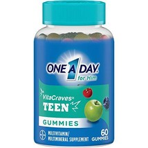 One A Day VitaCraves Teen For Him Multivitamin Gummies, 60 count Pack of 1