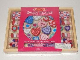 Melissa & Doug Sweet Hearts Wooden Bead Activity Set SEALED - $15.83