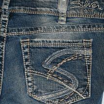 Silver Jeans Women's Suki Bootcut Embroidered Medium Blue Denim Size W32/L32 image 3