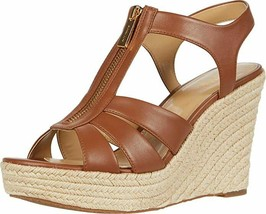 Michael Michael Kors Berkley Platform Wedge Sandals Luggage Size 9 - $89.09